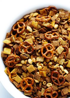 Make the ultimate Chex Mix with this recipe.