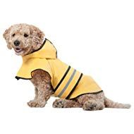 Fashion Pet Dog Raincoat For Small Dogs Dog Rain Jacket With Hood Dog Rain Poncho Polyester Water Proof Yellow W Grey Reflective Stripe Perfect Rain Gear For Your Pet By Ethical Pet - Pro Dog Supplies Pet Fashion, Animal Fashion, Ethical Fashion, Fashion Clothes, Large Dogs, Small Dogs, Small Animals, Dog Raincoat, Rain Poncho