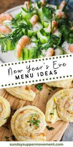 Whether you're throwing your own New Year's Eve Party or enjoying a quiet night with your family, these New Year's Eve food ideas are just what you need. #SundaySupper #recipes #recipesideas #menu #menuideas #newyears #holiday New Years Eve Menu, Make Ahead Casseroles, Sunday Suppers, Vegetable Side Dishes, Pasta Recipes, Food Ideas, How To Memorize Things, Brunch, Yummy Food