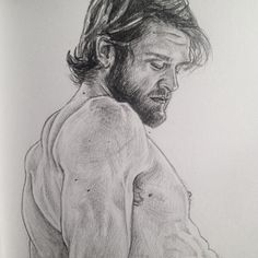 : detail of @colby.keller #illustration #portrait #gay #gayboys #gaymuscles #pornboys #gaypornstars #colbykeller #houseofjbg