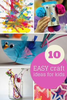 Easy craft ideas for kids round up @hodgepodgecraft