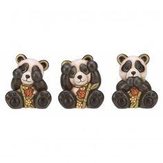 Confezione 3 panda