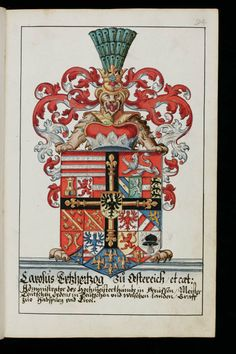 cool lion supporter -- Aarau, Staatsarchiv Aargau, V/4-1985/0001, p. 94r – Heraldry Guide of Hans Ulrich Fisch