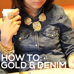 Your Park lane gold will really stand out with a denim shirt! #parklanejewelry #goldanddenim