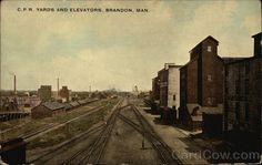 C.P.R. Yards and Elevators Brandon Canada Manitoba