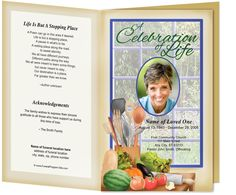 Sports, Hobbies, Career : Chef Themed Preprinted Title Letter Single Fold Order of Service Programs Template Funeral Program Template Free, Funeral Readings, Order Of Service Template, Elegant Words, Family Wishes, Service Program, Letter Size Paper, Resume Examples, Along The Way