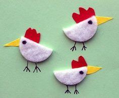 Hühner mit Wattepads basteln #easycrafts