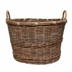 COUNTRY CHIC - Large Crocodile Oval Laundry Basket