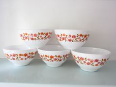 Your place to buy and sell all things handmade Pyrex Bowls, Cereal Bowls, Magpie, Cottage Chic, Milk Glass, French Vintage, Etsy Store, Kitchen Ideas, Dishes