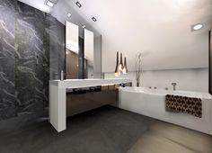 Baño en buhardilla con bañera y ducha