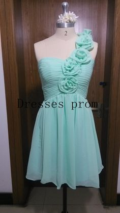 Short Bridesmaid Dress with Green Mint Bridesmaid Dress Chiffon Bridesmaid Dresses Prom Dresses Short Bridesmaids Dresses Chiffon Dress