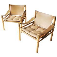 Pair of 'Scirocco' Safari Chairs by Arne Norell | 1stdibs.com