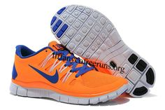 These are fly....My new War Eagle shoes! Womens Nike Free 5.0 Orange Blue Shoes