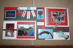 Cruisin' layout by Scrapi Traci. I have a sheet of this paper left. Cute idea!