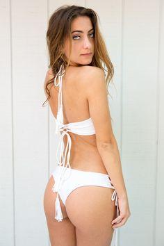 2016 Kaohs Bikinis Gypsy Bottom in White, Cacique Boutique, Kaohs Swim, Kaohs Bikini, Cacique Boutique, Swimwear Boutique