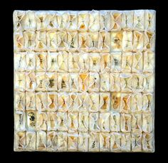 Kathy Miller_Healing: encaustic and mixed media, 18 x 18 x 2 3⁄4 inches, 2005