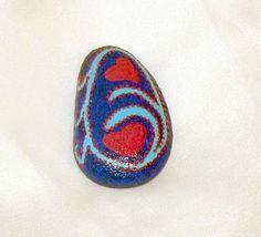 natural stones - painted Riverstones Boulders - Love - Heart  - handwork (9.00 EUR) by CrochetRagRug