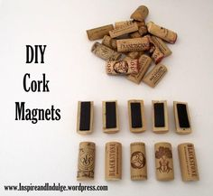 DIY Tutorial Home Decor / DIY Cork Magnets - Bead&Cord