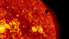 On June 5-6 2012, SDO is collecting images of one of the rarest predictable solar events: the transit of Venus across the face of the sun. This event happens in pairs eight years apart that are separated from each other by 105 or 121 years. The last transit was in 2004 and the next will not happen until 2117.    Credit: NASA/SDO, AIA