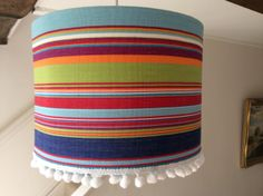 Deckchairstripe canvas with bobbles!