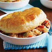 Simple chicken pot pie.
