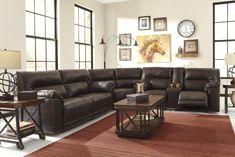 Barrettsville DuraBlend® - Chocolate 3 Pc Reclining Sectional