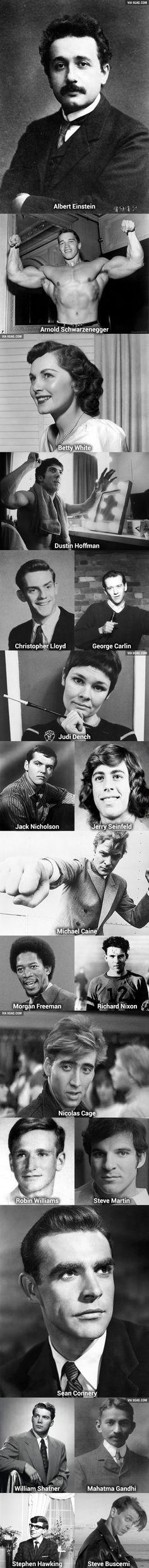 Famous old people when they were young.