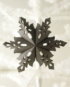 Wood-Slice Snowflake Ornament Set