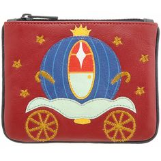 Harness Cinderellas Ball Carriage Zip Top Applique Leather Coin Purse £14.00 available from www.kubi.co.uk - Christmas presents birthday gifts hard to buy for special person wife wives cousins sisters teenagers teenage daughters children kids adults girlfriends friends