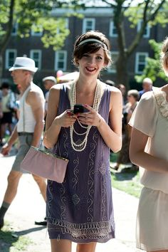 Purple Beaded Dress, Jazz Age Lawn Party