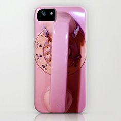 Pink iPhone 5 Case, iPhone 5, vintage telephone, pink dial phone, case for iPhone 5, dial telephone, bomobob, retro modern, iPhone accessory. $40.00, via Etsy.