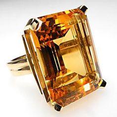 Emerald cut citrine. Weston Fine Estate Jewelry.