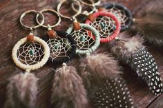 FREE SHIPPING Dreamcatcher keychain with by EcoDesignProject, $25.00