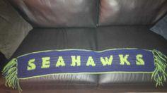 Seahawks Crochet Scarf