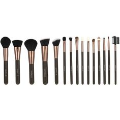 15 Pcs Makeup Brushes Kit (€34) ❤ liked on Polyvore featuring beauty products, makeup, makeup tools and makeup brushes