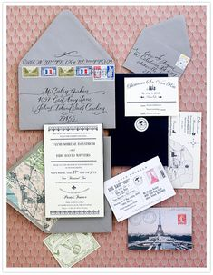 Faymi + Eric designed and created their own invitations with the help of friend, Jenna Hein of Love Jenna, who provided the amazing calligraphy.