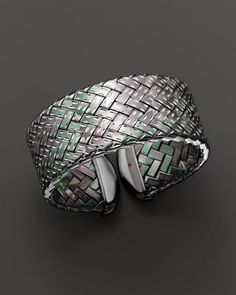 Roberto Coin Ruthenium Plated Sterling Silver Woven Cuff