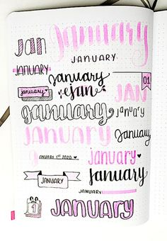 Use these super easy monthly bullet journal headers for every month of the year! Find inspiration for your next monthly spread with pretty monthly headers. Bullet Journal Inspo, Bullet Journal Alphabet, Bullet Journal Headers, January Bullet Journal, Bullet Journal Lettering Ideas, Bullet Journal Banner, Journal Fonts, Bullet Journal Notebook, Bullet Journal Aesthetic