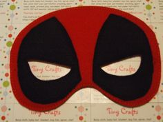 Deadpool inspired felt mask for dress up or Halloween Costume Pretend Play Imagination Education party favor by TinyCrafts on Etsy Dress Up Closet, Felt Mask, Unique Gifts, Handmade Gifts, Pretend Play, Burp Cloths, Mask Design, Deadpool, Pixie