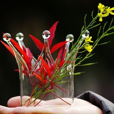 Beautiful Crown Shape Glass Flower Vase Candle Stick by VaporFan