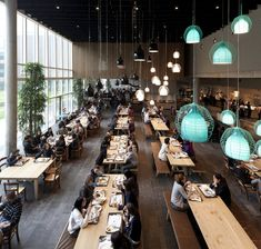Diesel with Foscarini Headquarter, Breganze. Cafeteria Design, Cafe Restaurant, Restaurant Design, Food Court Design, Office Canteen, Café Bar, Modern Office Design, Workspace Design, Cafe Interior