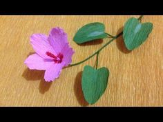 Wild Crepe Paper flowers - Flower Making of Crepe Paper - Paper Flower Tutorial - YouTube