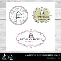 Bethany House Logo Design Want a logo design for your company? Contact me! www.mujka.ca
