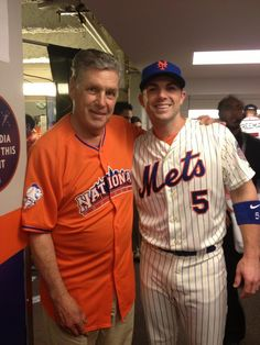 D Wright with Tom Terrific at 2013 All Star Game - Citi Fueld