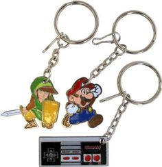 Nintendo keychains