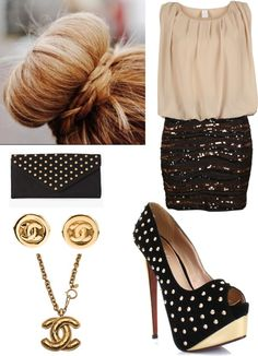 """lovely evening"" by noony-qa ❤ liked on Polyvore"