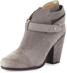 Rag & Bone Harrow Suede Ankle Boot, Granite