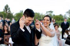 hilarious groom at wedding ceremony, photo by Cheng NV - wedding photographer in Brazil | via junebugweddings.com