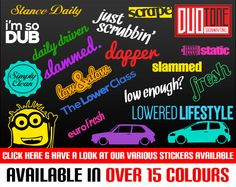Every day I see my dream sticker bombed Bomb OEM JDM Dub static Low Autocollant