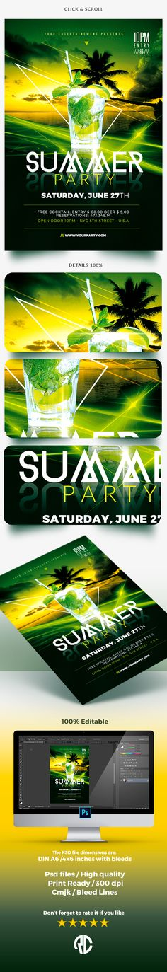 Classy Summer Template - Flyers Liked Save Classy Summer Template - Flyers - 1 Classy Summer Template - Flyers - 2 Classy Summer Template - Flyers - 3 Classy Summer | Party Template Exclusive Template, Very easy to Edit and Creative Design perfect to promote your Summer Party !